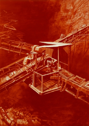 Mark Tansey - Matrix, 1993, oil on canvas