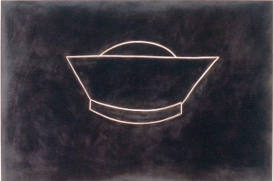 Robert Therrien - No title, 1985, oil on canvas mounted on wood