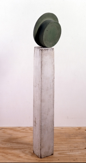 Robert Therrien - No title, 1984-85, oil-based enamel on bronze and wood