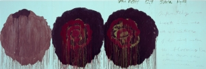 Cy Twombly - The Rose (V), 2008, acrylic on wood panel