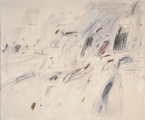 Cy Twombly - Untitled [Bolsena], 1969, oil based house paint, wax crayon, lead pencil and colored pencil on canvas