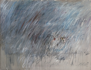 Cy Twombly - Untitled [Munich/Rome], 1972, oil paint, wax crayon and lead pencil on canvas