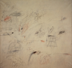 Cy Twombly - Ilium (One Morning Ten Years Later) [Part I], 1964, oil paint, lead pencil and wax crayon on canvas