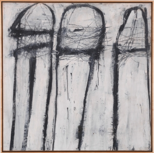 Cy Twombly - Untitled [New York City], 1953, oil based house paint and wax crayon on canvas