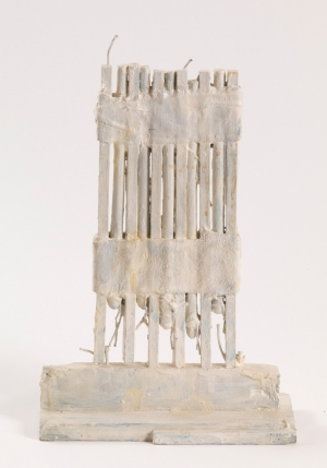 Cy Twombly - Untitled, 1989, bronze, painted with white oil-based paint