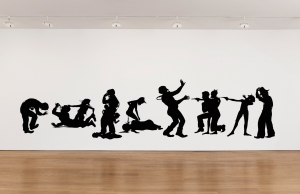 Kara Walker - Paternity Test, 2009, cut paper on wall