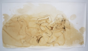 Kara Walker - Treesum, 1998, coffee and gouache on paper