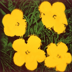 Andy Warhol - Flowers, 1964, acrylic and silkscreen ink on linen