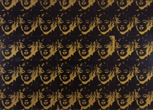 Andy Warhol - 40 Gold Marilyns, 1980, silkscreen ink and synthetic polymer paint on canvas