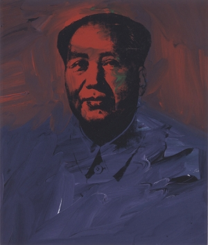 Andy Warhol - Mao, 1973, acrylic, clear acrylic medium, and silkscreen ink on linen