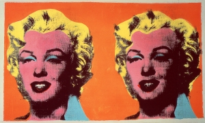 Andy Warhol - Two Marilyns, 1962, acrylic, silkscreen ink, and pencil on linen