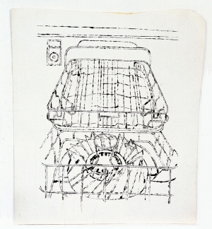 Andy Warhol - Dishwasher, 1960, ink on paper
