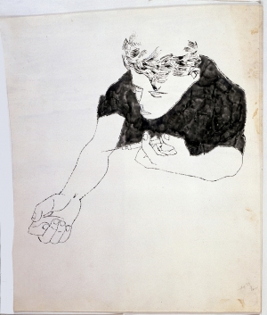 Andy Warhol - The Nation's Nightmare, 1951, ink on paper