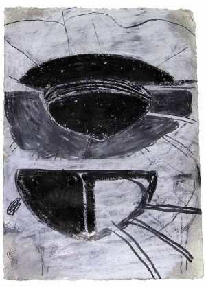 Terry Winters - Schema (66), 1985-86, oil and graphite on paper