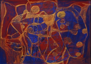Terry Winters - Viewing Transformations 4, 1993, acrylic on paper