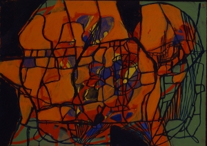 Terry Winters - Viewing Transformations 1, 1993, acrylic on paper