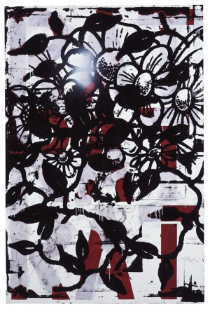 Christopher Wool - I Smell a Rat, 1989-94, enamel and acrylic on aluminum