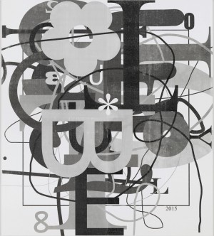 Christopher Wool - Untitled, 2015, silkscreen ink on linen