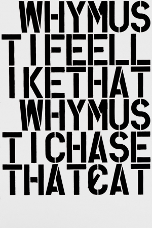 Christopher Wool - Why?, 1990, enamel on aluminum