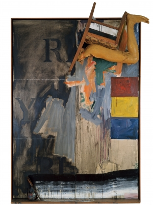 Jasper Johns - Watchman, 1964, oil on canvas with objects (two panels)