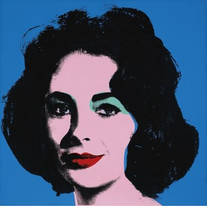 Andy Warhol - Liz [Early Colored Liz], 1963, synthetic polymer and silkscreen ink on canvas