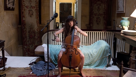 Installation view of Ragnar Kjartansson's The Visitors, 2012.
