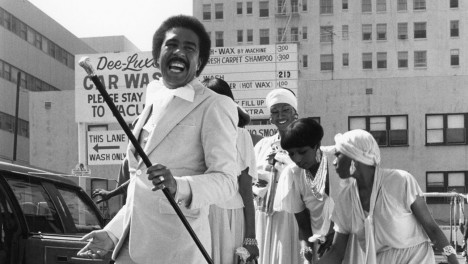 Video still featuring actor Richard Pryor in the film, Car Wash