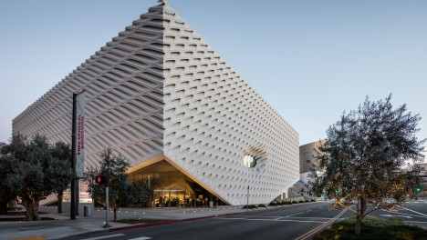 The Broad museum on Grand Avenue