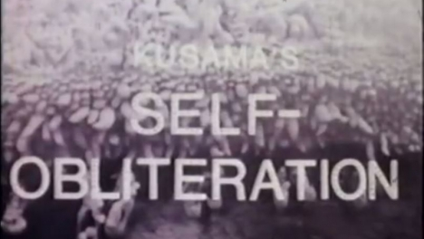 Title shot of Kusama's Self-Obliteration