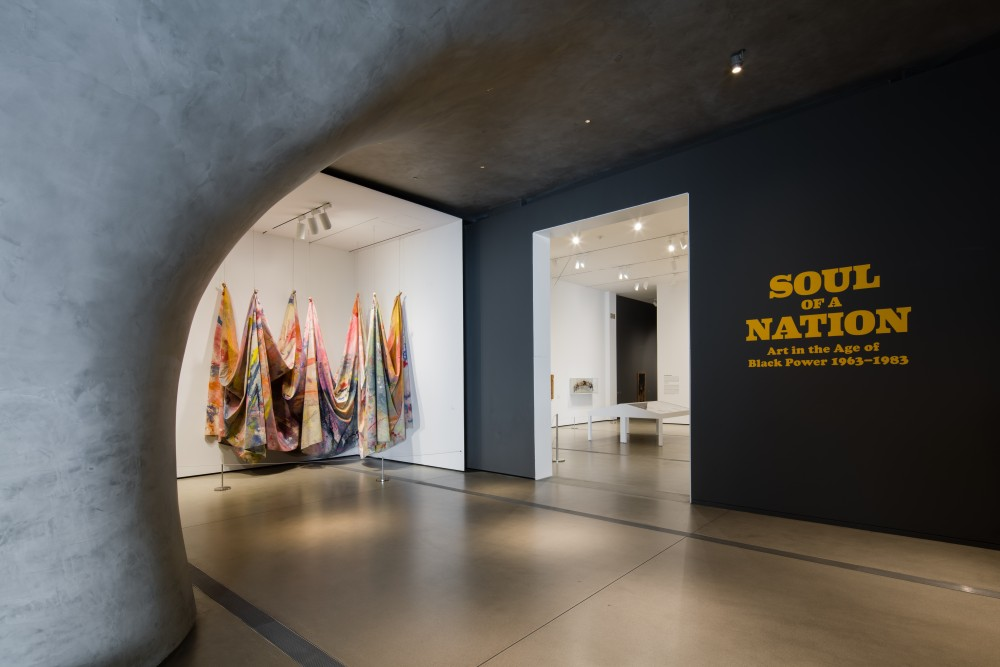 Photo of the entrance to the Soul of a Nation special exhibition