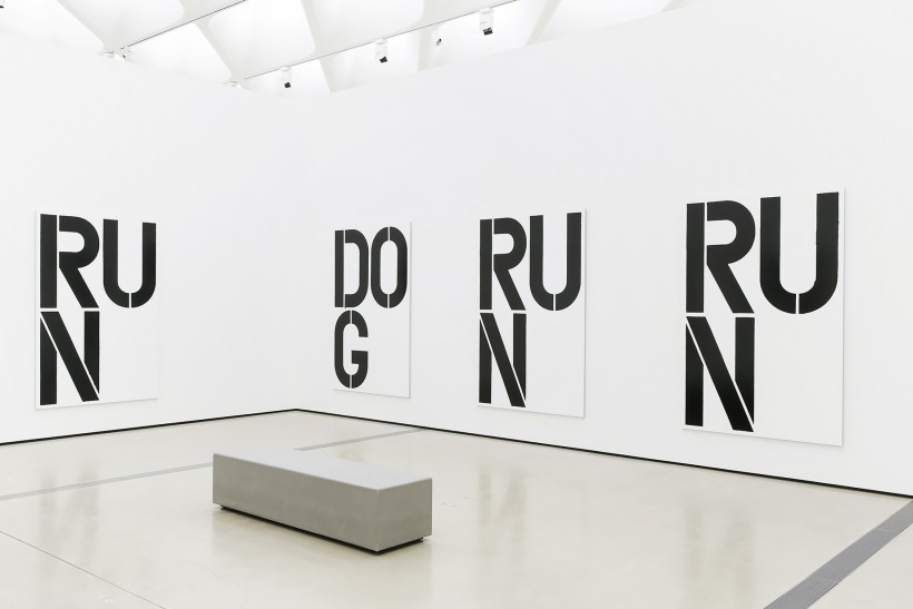 Installation image of Christopher Wool's Untitled (1990)