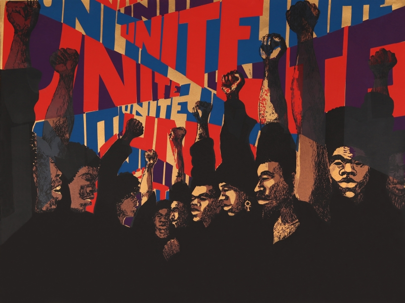 Image of a screenprint by artist Barbara Jones-Hog: Unite (First State), 1971. Screenprint. © Barbara Jones-Hogu